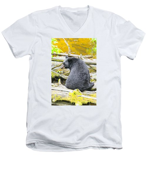 Yes They Do Men's V-Neck T-Shirt by Harold Piskiel