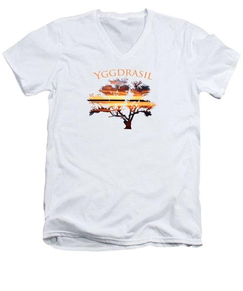 Yggdrasil- The World Tree 2 Men's V-Neck T-Shirt