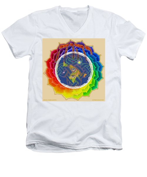 Yhwh Covers Earth Men's V-Neck T-Shirt
