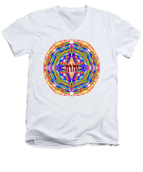 Yhwh Mandala 3 18 17 Men's V-Neck T-Shirt