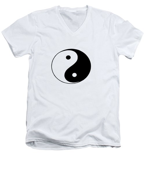 Yin And Yang Men's V-Neck T-Shirt by Pat Cook