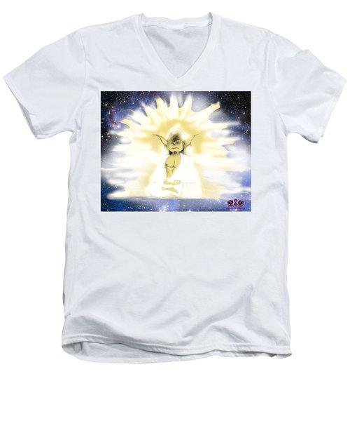 Yoda Budda Men's V-Neck T-Shirt