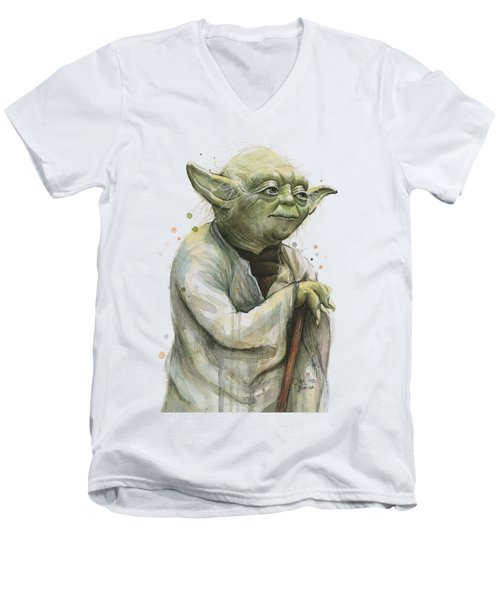 Yoda Portrait Men's V-Neck T-Shirt