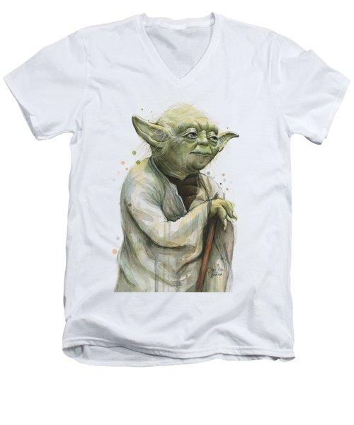 Yoda Portrait Men's V-Neck T-Shirt