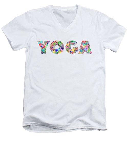 Yoga Word Art Men's V-Neck T-Shirt