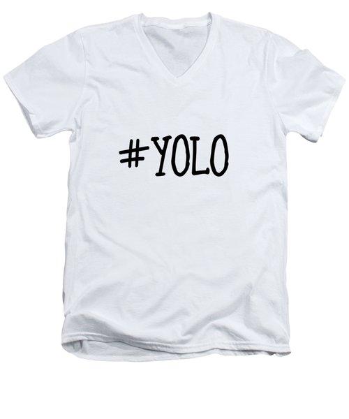 #yolo Men's V-Neck T-Shirt