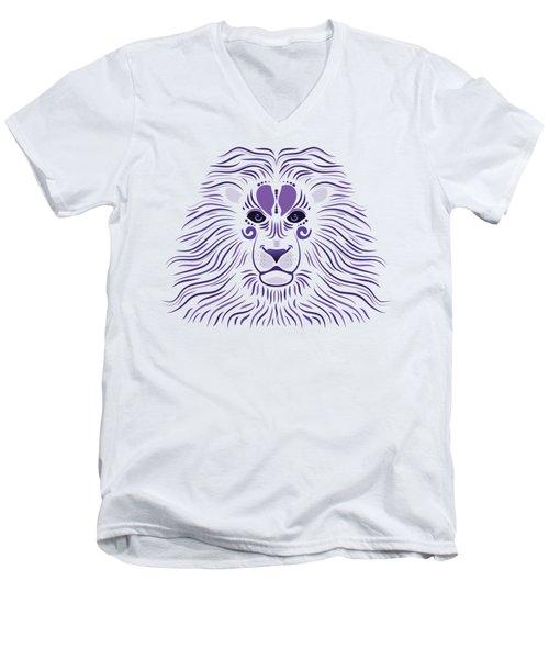 Yoni The Lion - Light Men's V-Neck T-Shirt by Serena King