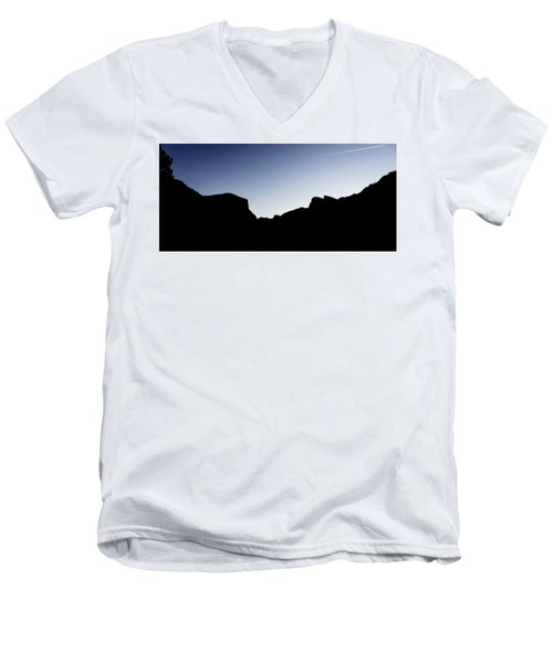 Yosemite In Silhouette Men's V-Neck T-Shirt