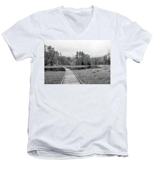 Yosemite Monochrome Men's V-Neck T-Shirt