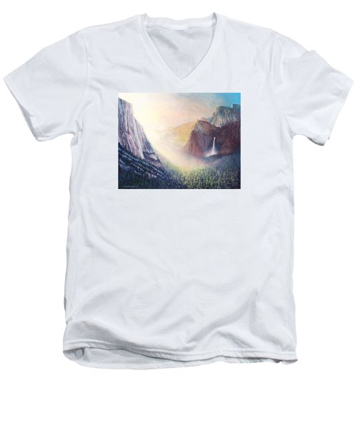 Yosemite Morning Men's V-Neck T-Shirt by Douglas Castleman