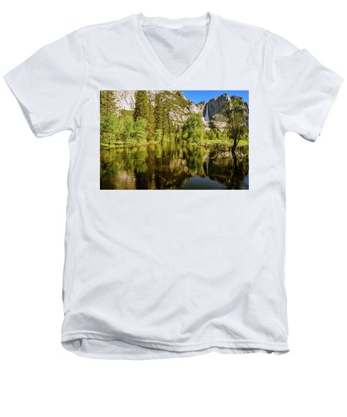 Yosemite Reflections On The Merced River Men's V-Neck T-Shirt