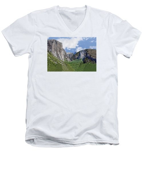Yosemite Tunnel View Men's V-Neck T-Shirt