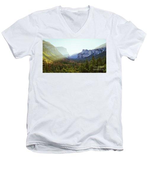 Yosemite Valley Awakening Men's V-Neck T-Shirt by JR Photography