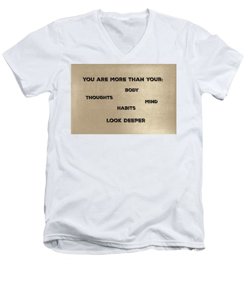 You Are More #2 Men's V-Neck T-Shirt