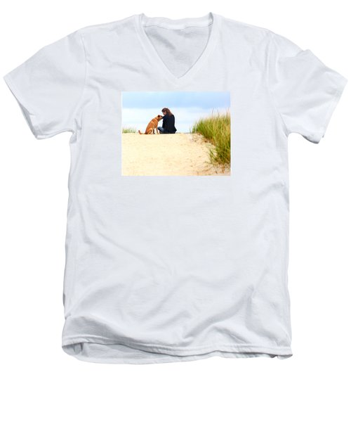 Men's V-Neck T-Shirt featuring the photograph You Are My Sunshine by Dana DiPasquale