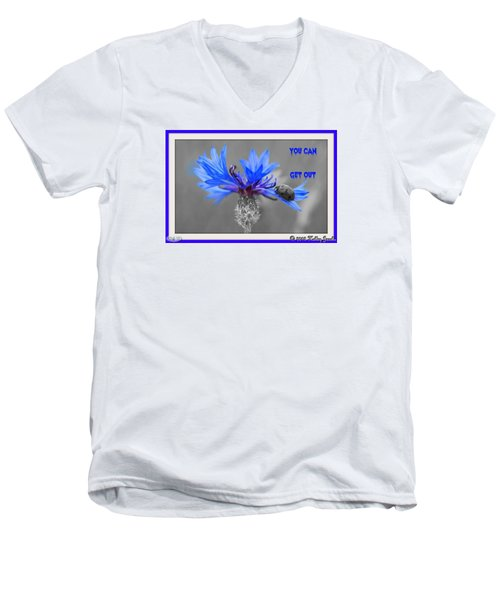 You Can Get Out Men's V-Neck T-Shirt by Holley Jacobs