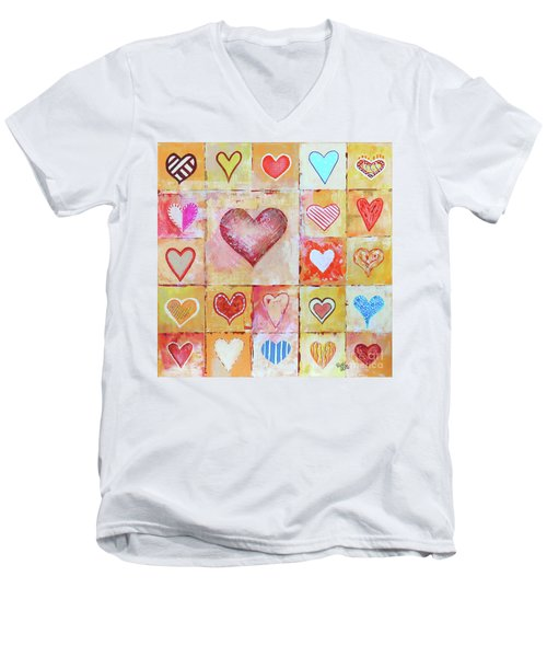 You Can Only See Clearly With Your Heart Men's V-Neck T-Shirt
