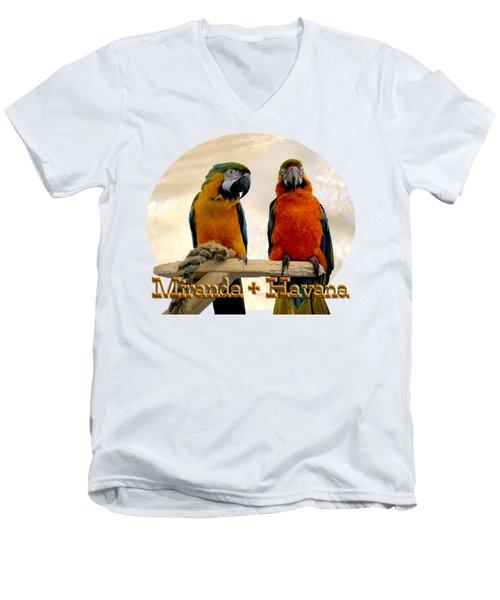 You Have A Friend In Me Men's V-Neck T-Shirt by Zazu's House Parrot Sanctuary