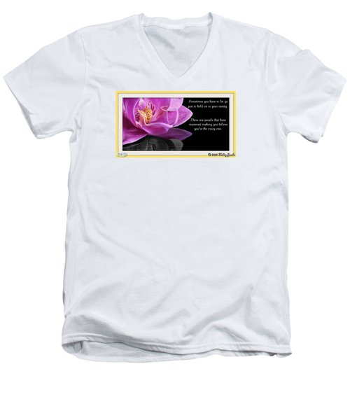 You Have To Let Go Men's V-Neck T-Shirt by Holley Jacobs
