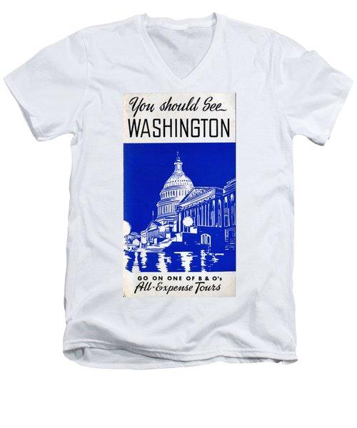 You Should See Washington Men's V-Neck T-Shirt