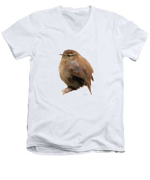 Young Female Blackbird - Turdus Merula Men's V-Neck T-Shirt by Bamalam  Photography