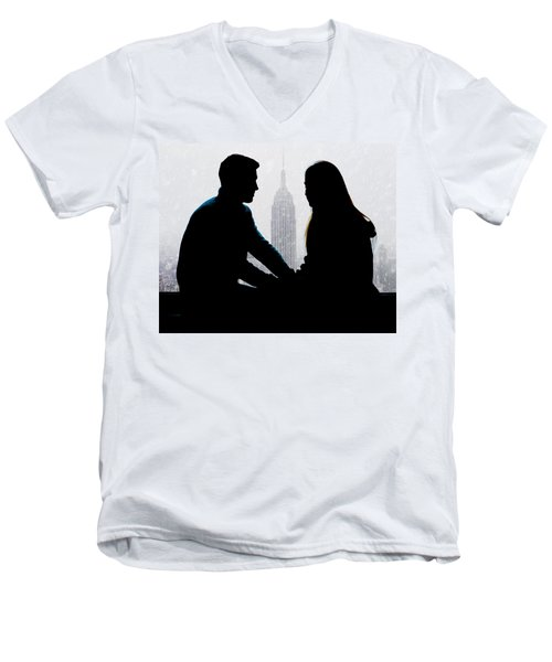 Men's V-Neck T-Shirt featuring the photograph Young Love     by Chris Lord