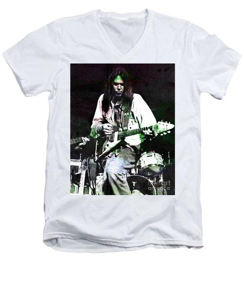Young Neil Men's V-Neck T-Shirt by John Malone