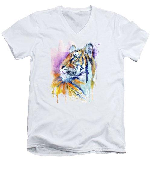 Young Tiger Portrait Men's V-Neck T-Shirt