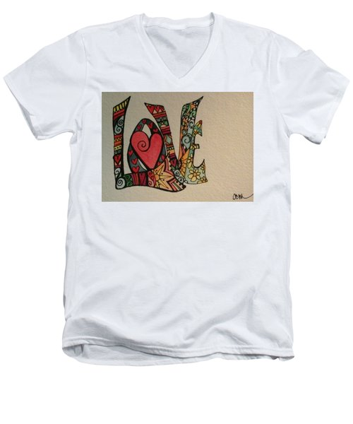 Your Big Heart Men's V-Neck T-Shirt by Claudia Cole Meek