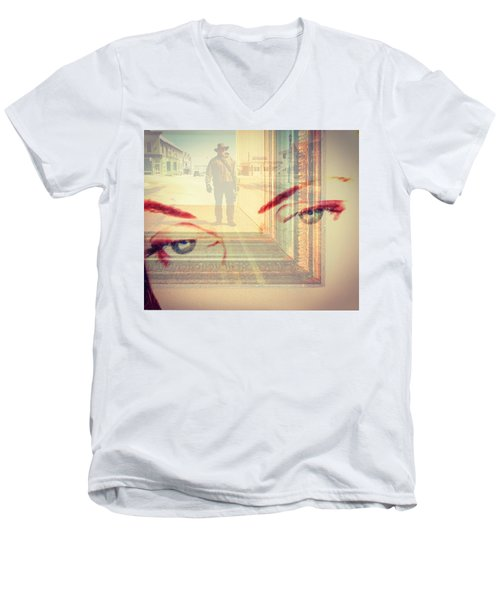 Your Eyes Only Men's V-Neck T-Shirt by Theresa Marie Johnson