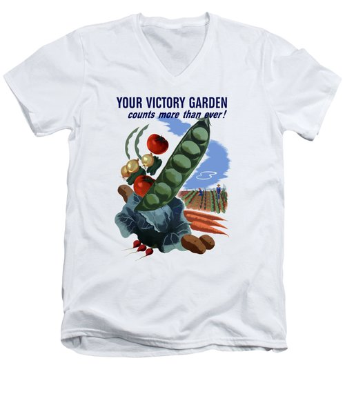 Your Victory Garden Counts More Than Ever Men's V-Neck T-Shirt by War Is Hell Store