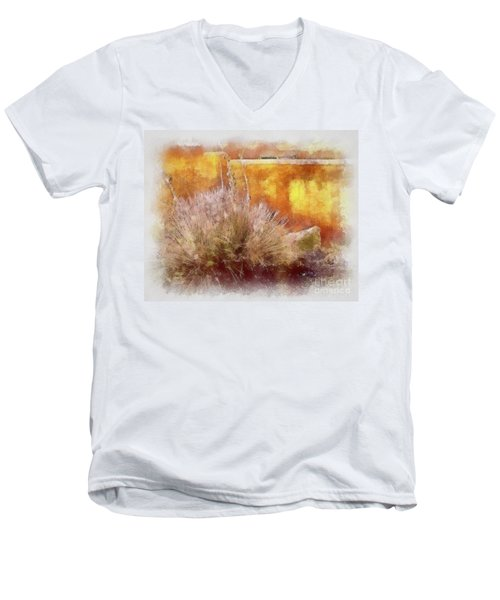 Yucca And Adobe In Aquarelle Men's V-Neck T-Shirt