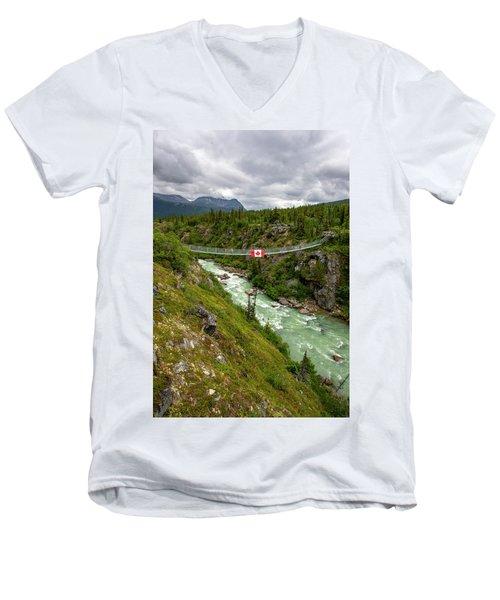 Yukon Suspension Bridge Men's V-Neck T-Shirt