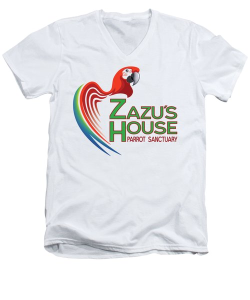 Zazu's House Parrot Sanctuary Men's V-Neck T-Shirt by Zazu's House Parrot Sanctuary