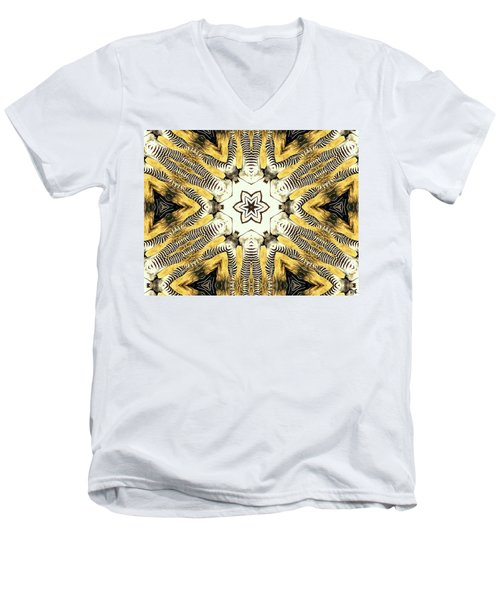 Zebra I Men's V-Neck T-Shirt by Maria Watt