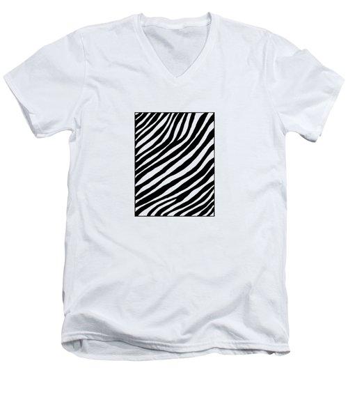 Zebra Men's V-Neck T-Shirt by Konstantin Sevostyanov