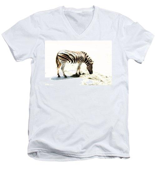 Zebra Stripes Men's V-Neck T-Shirt