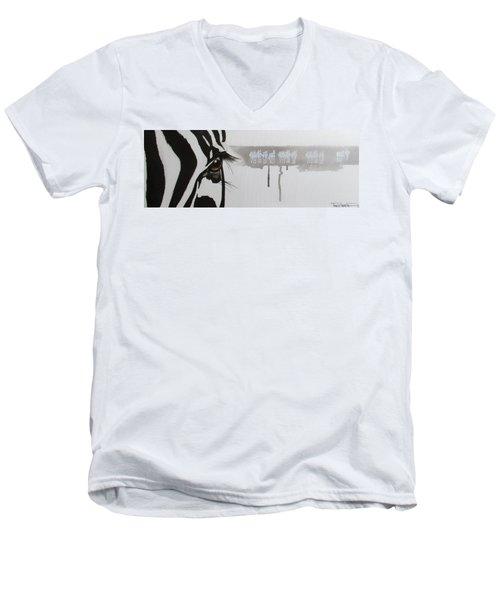 Zebra Tears Men's V-Neck T-Shirt