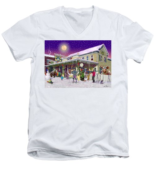 Zebs General Store In North Conway New Hampshire Men's V-Neck T-Shirt by Nancy Griswold