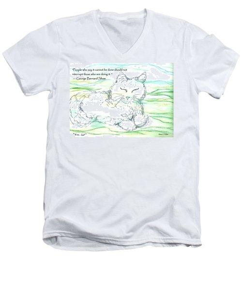 Zen Cat Men's V-Neck T-Shirt