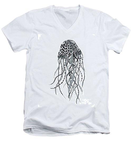Zen Jellyfish Men's V-Neck T-Shirt