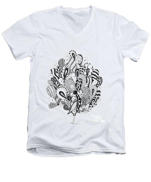 Zen Peacock Men's V-Neck T-Shirt
