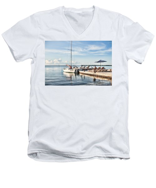 Men's V-Neck T-Shirt featuring the photograph Zen Say by Lawrence Burry