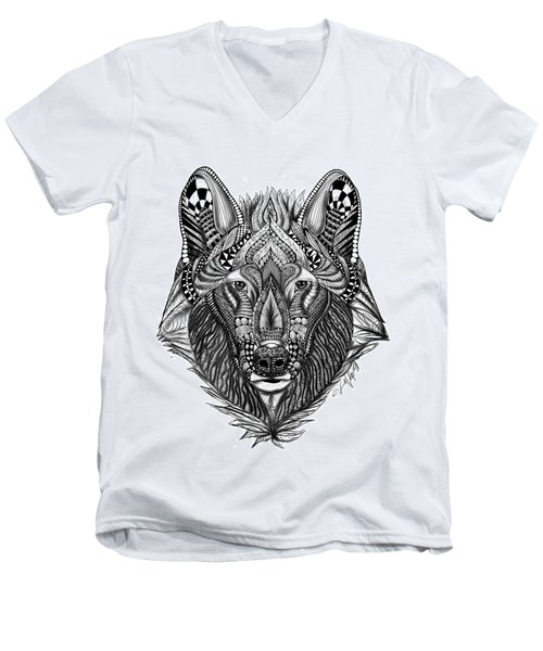 Zendoodle Wolf Men's V-Neck T-Shirt