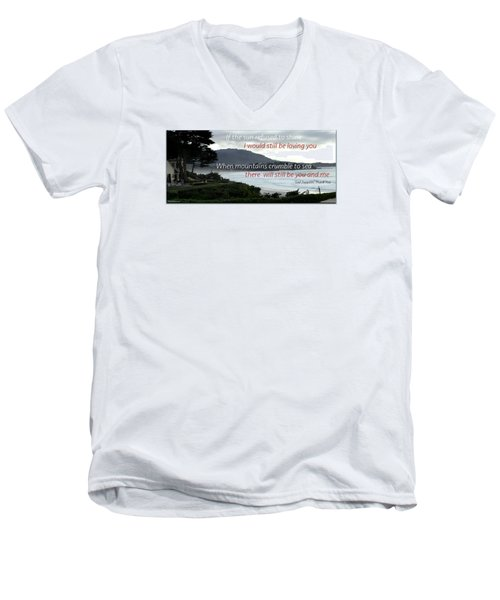 Men's V-Neck T-Shirt featuring the photograph Zeppelin Gratitude by David Norman