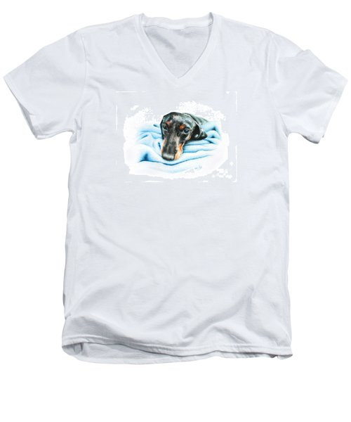 Zeus Men's V-Neck T-Shirt by Mike Ivey