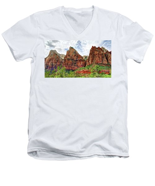 Zion N P # 41 - Court Of The Patriarchs Men's V-Neck T-Shirt