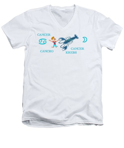 Zodiac Sign Cancer Men's V-Neck T-Shirt