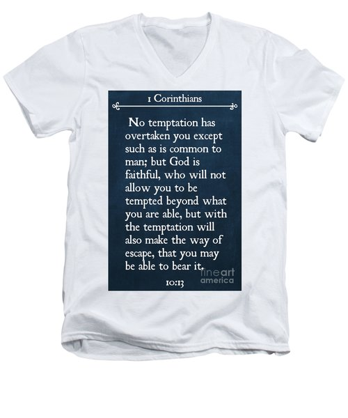 1 Corinthians 10 13- Inspirational Quotes Wall Art Collection Men's V-Neck T-Shirt