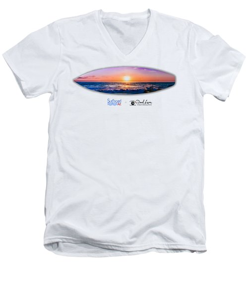 A Purple Orange Majestic Sunset -- Png Men's V-Neck T-Shirt